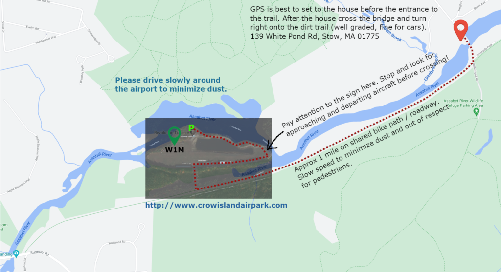 Crow Island W1M Driving Directions